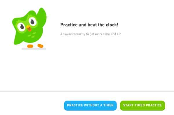 You can practice your languages with Duolingo to make sure you remember skills you already learned in your Duolingo course.