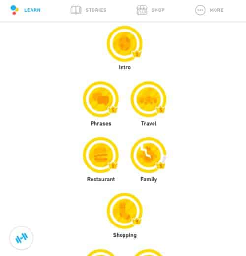 Duolingo levels help you keep track of your progress in the Duolingo courses.