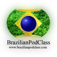The Brazilian Podclass logo. You can learn Portuguese online with this program.