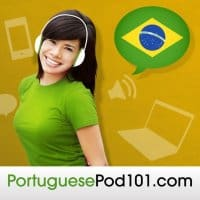 The PortuguesePod101 logo. This app helps you learn Portuguese online.