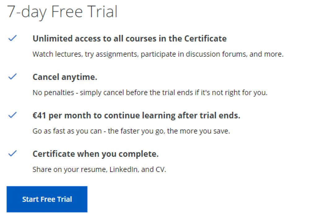 Coursera Free Trial