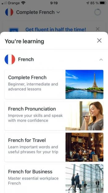 Busuu French course review
