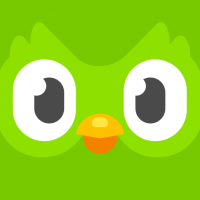 duolingo logo. duolingo shows you how to learn a language fast!