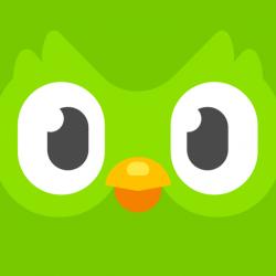 duolingo logo. duolingo shows you how to learn a language fast!