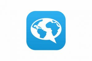 FluentU logo. FluentU is a great language learning app that uses media from around the internet!