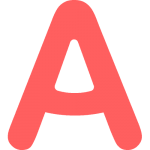 The AmazingTalker logo, which is simply a capital A in a light red color. AmazingTalker hosts a wide variety of tutors to help students from all over the world learn Arabic.