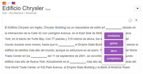 An example article from the Clozemaster Reading feature
