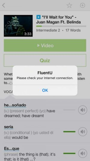 You can access quizzes offline with FluentU, but not videos