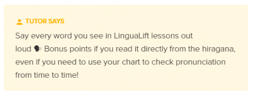 Tips from the LinguaLift Japanese Tutor