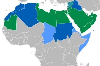 A map showing where people learn MSA. A lot of people who learn Arabic as a second language choose to learn MSA because a lot of people in different regions speak it.